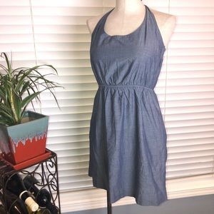 JCrew chambray halter top dress. Size Small